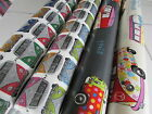 Cotton Laminated Tablecloth PVC Oilcloth VW VANS - Hard Wearing High Quality