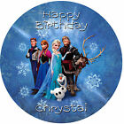 Edible Personalised Frozen Cake Toppers, Wafer or Icing