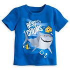 DISNEY STORE FINDING NEMO BEST CHUMS TEE T-SHIRT NEMO BRUCE TAD PUFFY INK ACCENT