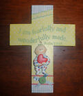 Heaven Sent Baby Resin Wall Cross WC-100 Heart Blossoms ~Karla Dornacher~ NEW!