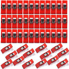 12/50 Set Wonderful Clips Sewing Quilting & Crafts - Bulk Red Wonder Clips New