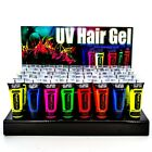 PAINTGLOW NEON UV HAIR GEL FESTIVAL RAVE 80S PARTY 10ML COLOURS ULTRA VIOLET