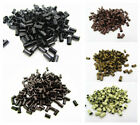 Внешний вид - 1000pcs Copper Tube Beads Micro Link Rings Lined for Hair Extensions US Seller