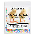 """Chick Leg Bands ~6 colors 1/4""""  Size 4 Poultry Chickens Ducks geese Day Old"""