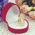 Charming Oval Leaf Gold Plated Cocktail Party Ring Statement WITH FREE GIFT BOX