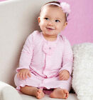 Mud Pie Pink Layette Take Me Home Bamboo Convertible Sleep Gown- Shower Gift