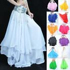 Women Quality Belly Dancing Long Skirt Full Circle Chiffon Layers Swing Spiral