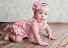 Baby Girl Clothes Kids Newborn Ruffle Headband Outfit Romper Bodysuit Summer