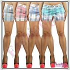 Sexy Women's Checked Shorts Ladies Summer Plaid Shorts Size 6,8,10,12,14,16 UK