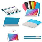 "Ultra Slim Folio Leather Case Cover For 9.6"" Huawei MediaPad T1 10 + 2Pcs Film"