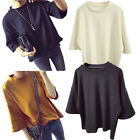 New Korean Women Ladies Casual 3/4Sleeve Blouse Shirt Loose T-Shirt Tops