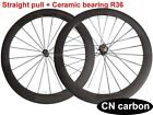 Straight pull +Ceramic bearing R36 hub 60mm Tubular carbon road bicycle wheelset