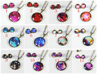 Handmade Galaxy Jewelry Space Star Necklace Nebula Earring Aurora Science Stud