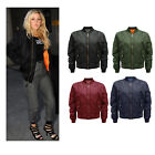 LADIES MA1 FLIGHT PILOT ARMY MILITARY SECURITY VINTAGE BOMBER HARRINGTON JACKET