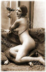Vintage 101 1920's Erotic Female Nude Sepia Retro PHOTO REPRINT A4 A3 or A2 Size