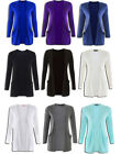 Ladies Boyfriend Cardigan Womens Plain Open Long Sleeve Cardigans New 8 -18