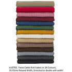 Neotrims Cable Twist Knit Fabric,Selvedge Edge 13 Colours,Knitted Sweater Style