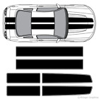 Ford Mustang EZ Rally Racing Stripes 3M Vinyl Stripe Decals Graphics