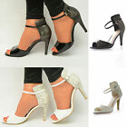 NEW Women Animal Print Ankle Strap Open Toe Stiletto Formal Occasion Party Heels