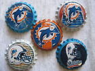 Miami Dolphins Scrapbooking Crafts Bottle Caps Set #1 - Badge Reels Magnets $5.99 USD on eBay