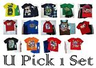 BOYS 2 PIECE SHORTS SET SUMMER OUTFIT SHIRT TOP TEE BOTTOMS KIDS YOUTH SZ 4 5 6