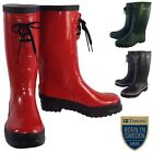 Designer Lace Up Wellington Rain Boots Everyday Festival Camping Walking Wellies