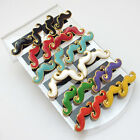 1 Box 12pairs Multi-color Cute Mustache Earring Stud Freeshipping