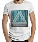 Forest Beyond the Fear Mens T Shirt Hipster Triangle Religeon Trees Tshirt Top