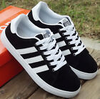 Fashion Men's Running shoes Striped Athletic sport sneakers flat shoes