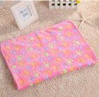 Pet Small Large Warm Paw Print Dog Puppy Cat Pig Fleece Soft Blanket Beds Mat