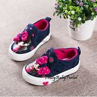NEW Fashion Kid's GIRLS Slip On Sports Casual Canvas Sneakers Shoes