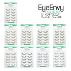 EyeEnvy False Eyelashes with Free Glue Fake Eye Lashes Thick Long Black UK 401-9