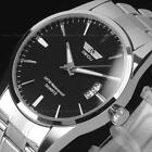 New Men's Watch Stainless Steel Band Date Analog Quartz Sport Wrist Watch ArmyWristwatches - 31387