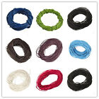 3/5/10M Real Leather String Cord Round Necklace Charms Rope For Jewelry DIY