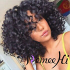"12""-14"" Short Curl 100% Brazilian Human Hair Full/Front Lace Wigs with baby hair"