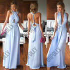 Womens Lilac Prom Floor Length Long Maxi Gown Bridesmaid Formal Evening Dress