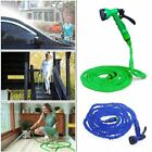 Latex 50 / 75 / 100 FT Expanding Flexible Garden Water Hose w Spray Nozzle ca