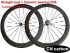 Straight pull + Ceramic bearing R36 U Shape 60mm Tubeless carbon bicycle wheels
