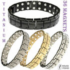 MENS TITANIUM SUPER STRONG MAGNETIC THERAPY BRACELET BIO HEALING ARTHRITIS 002