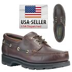 Timberland Men's Classic 3 Eye Leather Boat Shoes Wide&Medium Sizes 32026 USA