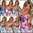 Sexy Ladies Floral Lace Top Womens Casual Summer Top One Size 6,8,10,12 UK