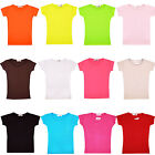 Girls Back to School T-Shirts Kids Cotton Short Sleeve School Tops 2-13 Years