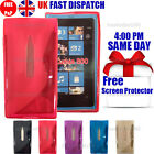 GRIP S-LINE SILICONE GEL CASE & FREE SCREEN PROTECTOR FITS NOKIA LUMIA 800