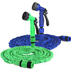 50 Feet Deluxe Expandable Garden Hose Outdoor Watering Pipe w/ Spray Nozzle