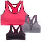 Padded Sports Bra Racerback Cutout Bustier Crop Top Workout Gym Active Seamless