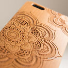 Natural Cherry Wood Bamboo Case Back Cover PC Bumper For iPhone SE 5 6s 6 Plus 7