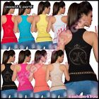 Womens Tank Top Sexy Casual Summer Ladies Vest Top ONE SIZE 6,8,10,12 UK New