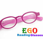 Elizabeth-S EGO Round Oval Reading Glasses w Hipster Two Tone Color All Strength