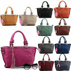 Women's Faux Leather Medium Multi Pockets Crossbody Satchel Bag