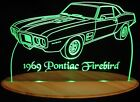 "1969 Firebird +scoops Edge Lit 11-13"" Lighted Sign LED Plaque 69 VVD9 USA"